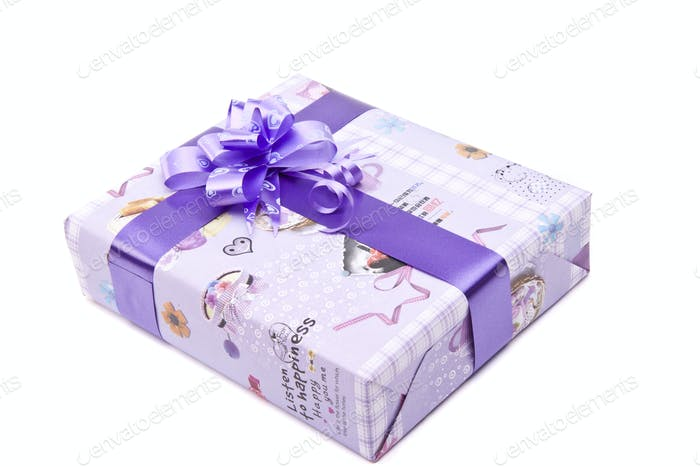 gift box with big bow ribbon