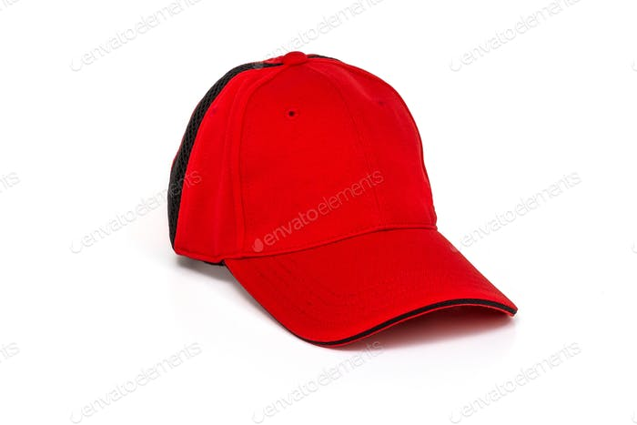 Golf cap adult red color