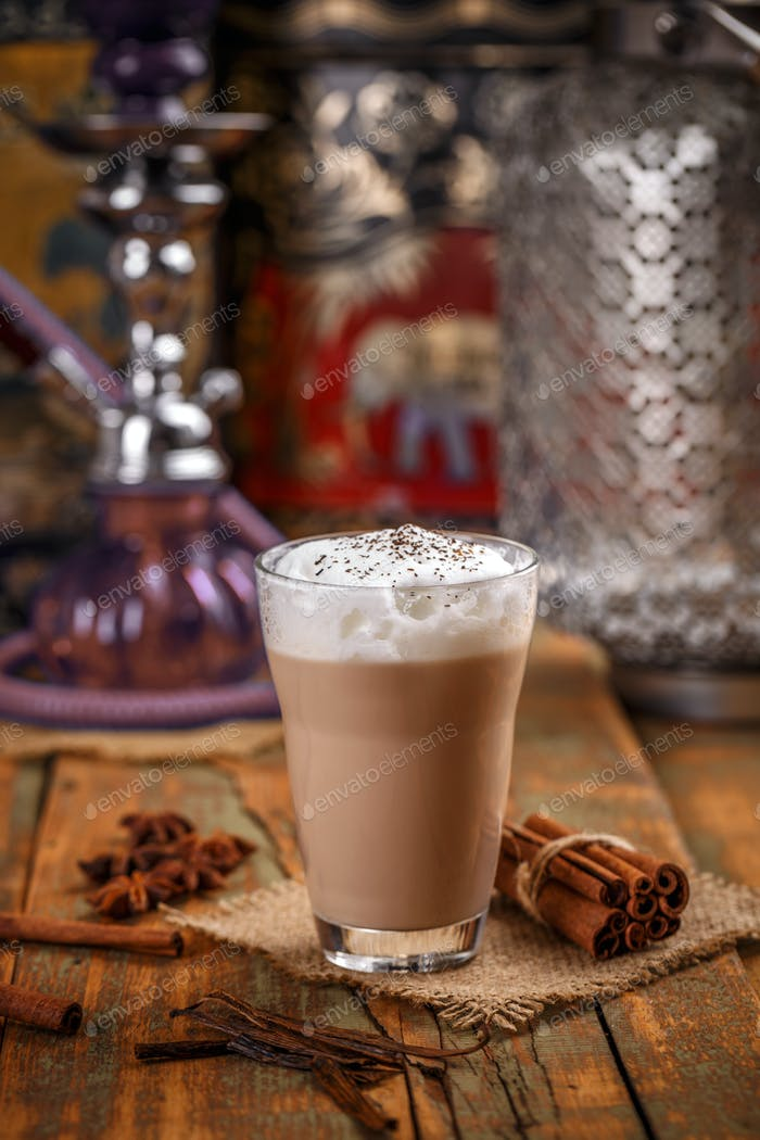 Dairy smoothie with cinnamon