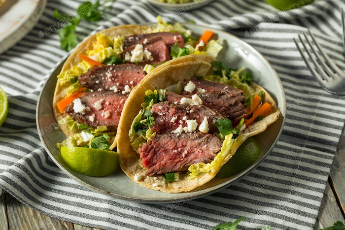 Homemade Korean Steak Tacos