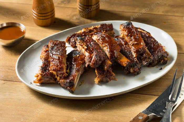 Homemade Smoked St Louis Style Spare Ribs