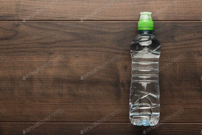 Plastic Water Bottle On The Table