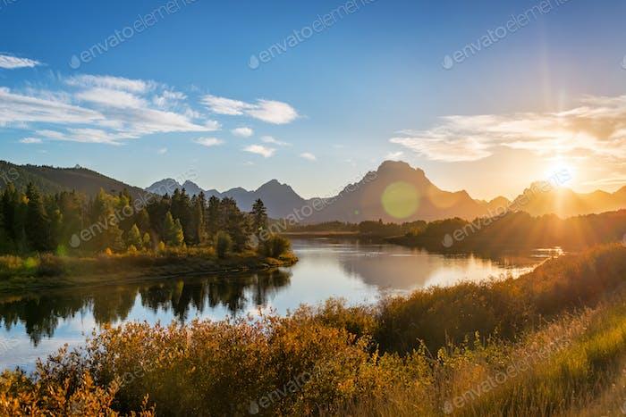 Teton Range Sonnenuntergang