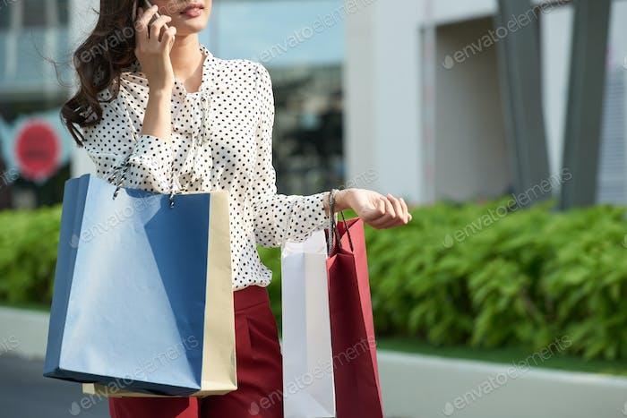 Female shopaholic