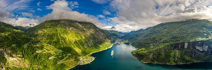 Geiranger Fjord, Schöne Natur Norwegen.