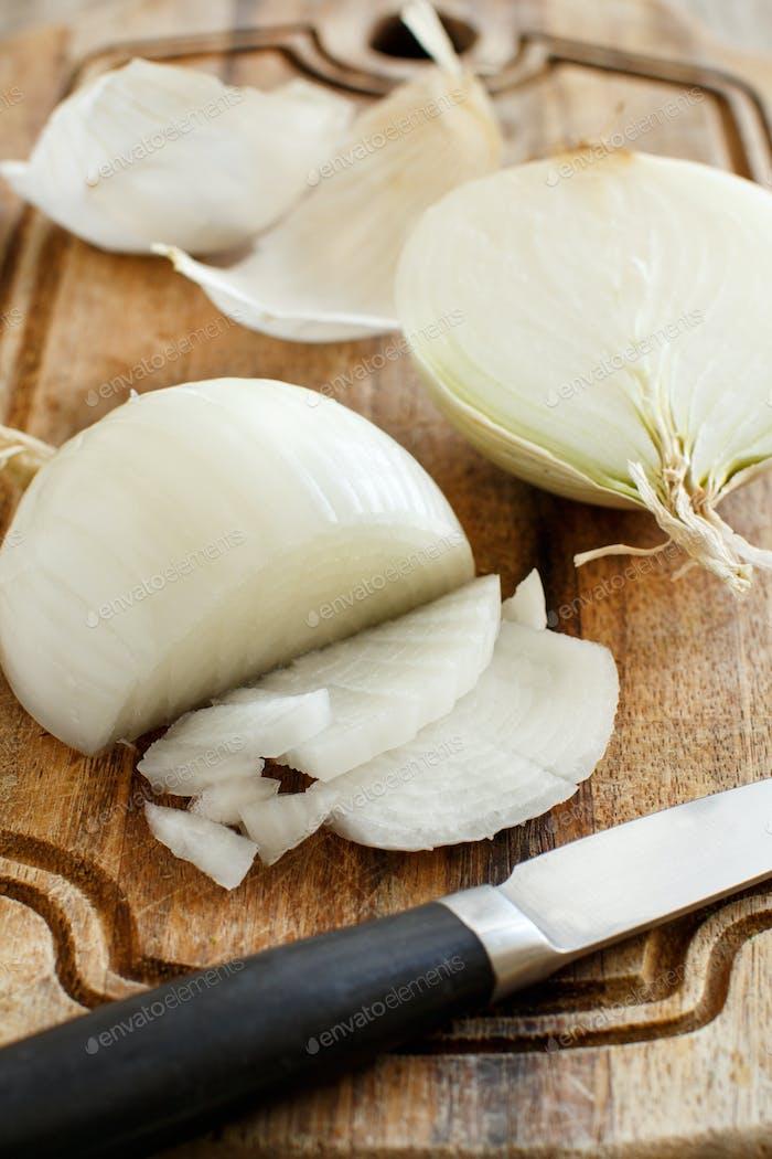 Fresh raw white onion