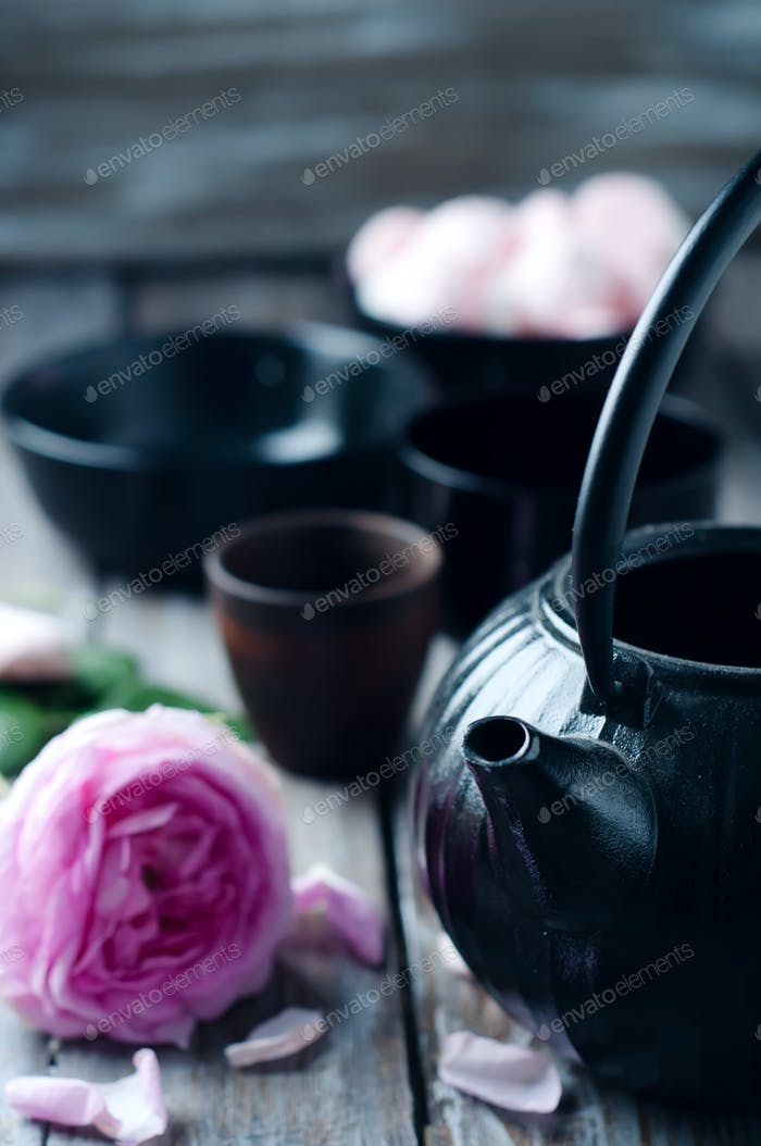 Kit de té asiático