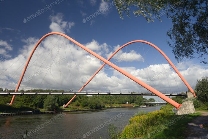 Suspension Bridge With Arches