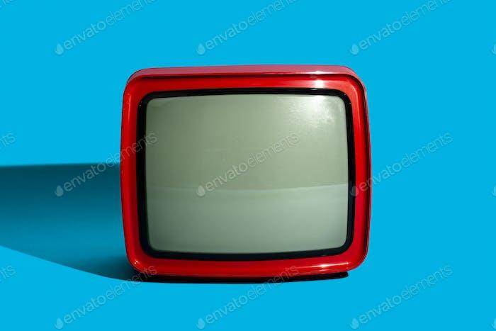 Red retro TV screen