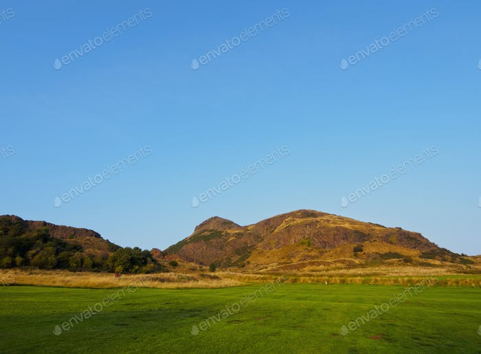 Holyrood Park in Edinburgh
