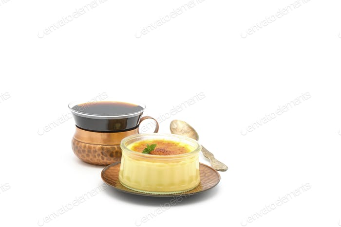 Creme Brûlée and Coffee