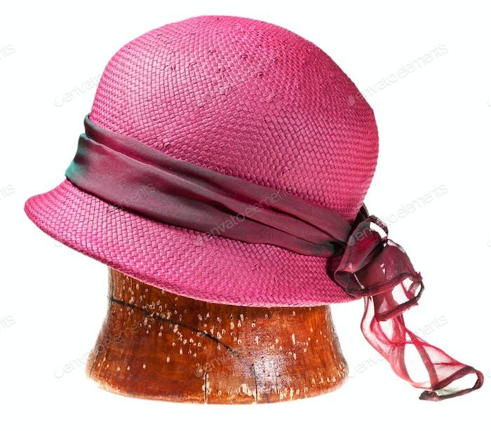 summer straw pink hat
