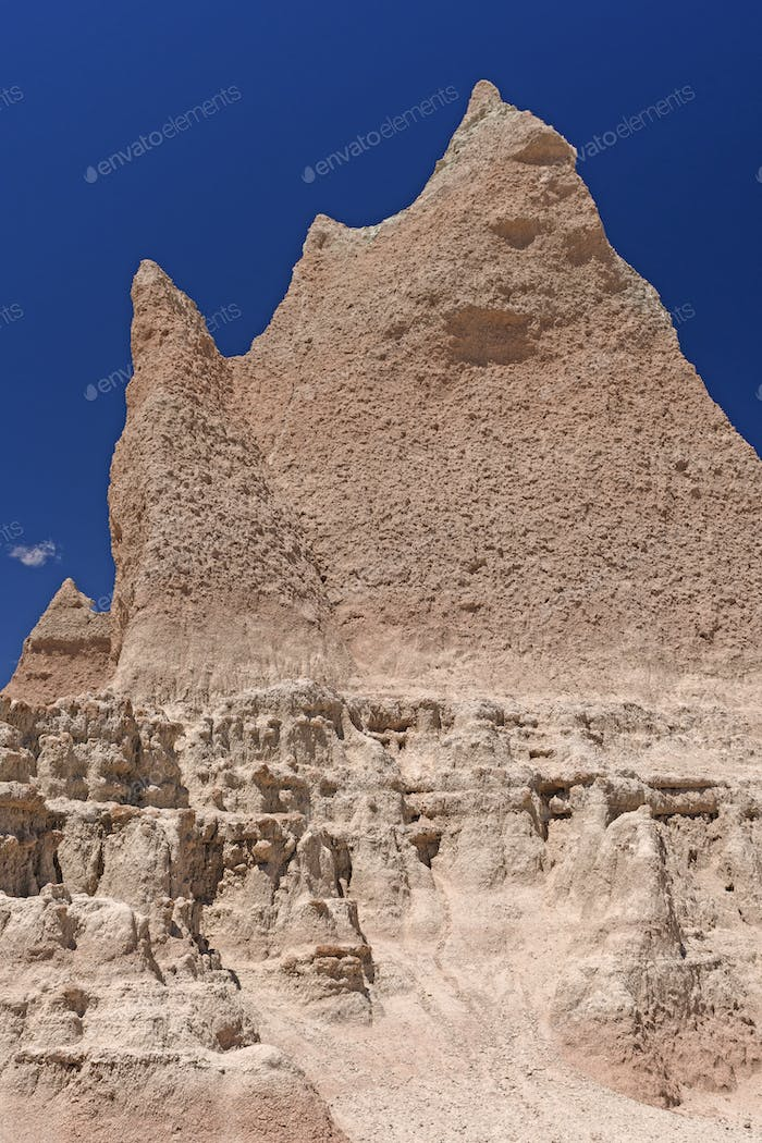 Dramatic Pinnacle in the Badlands
