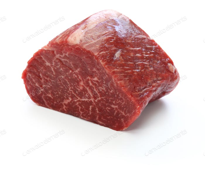 raw beef rump block meat