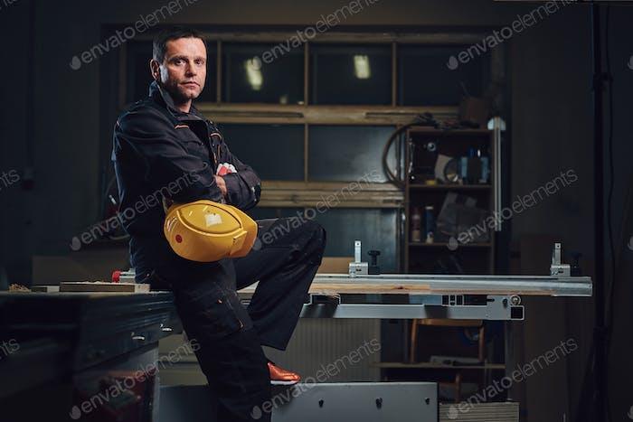 Portrait of a carpenter.