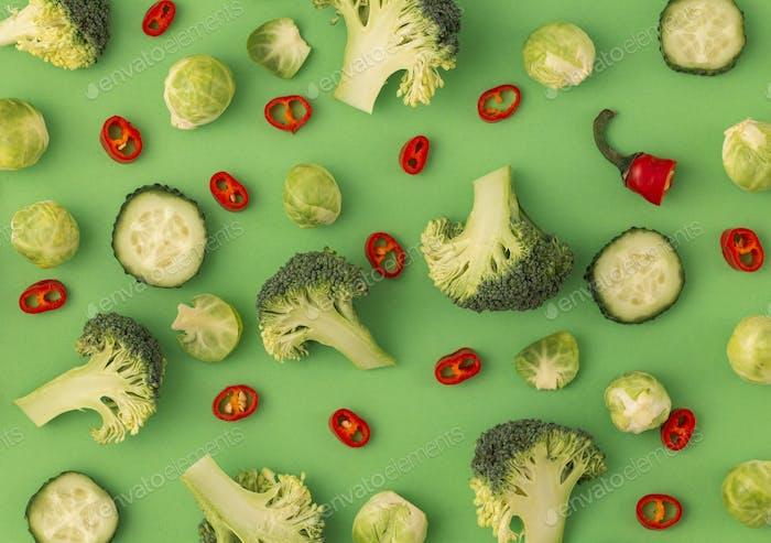 Vegetables food pattern