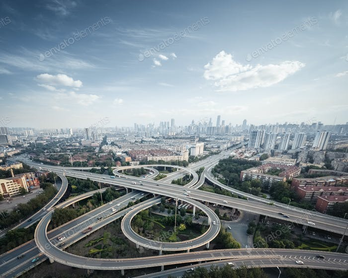 Thumbnail for city interchange in tianjin