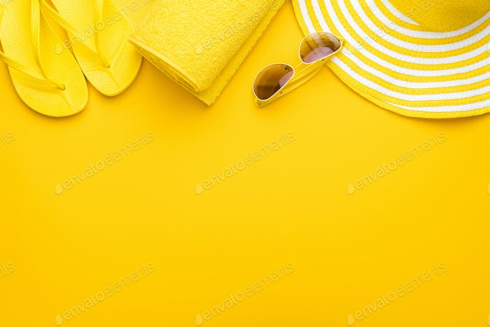Yellow Beach Accessories