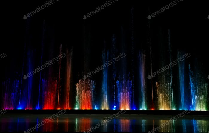 Dancing colorful fountain