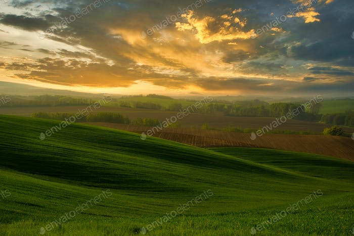 A beautiful landscape of the hills