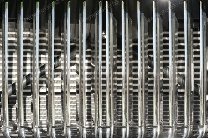 chromed vehicle grille