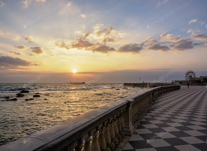 Livorno in Tuscany, Italy