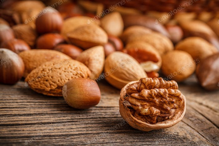 Assorted of nuts