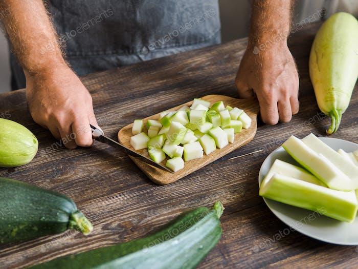 Zucchini harvesting concept
