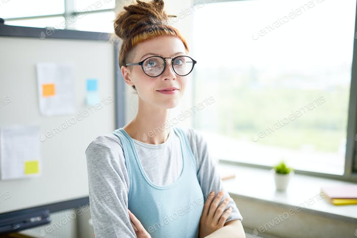 Ambitious confident hipster startupper