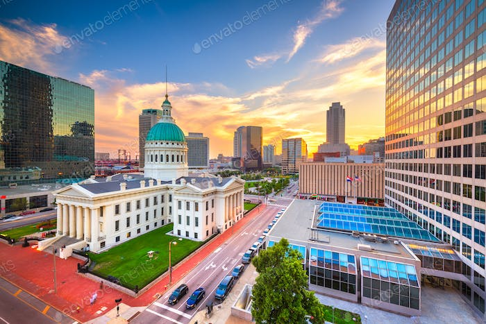 St. Louis, Missouri, USA and Old Courthouse