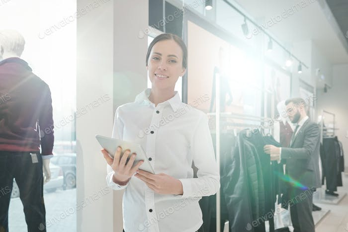 Portrait of wardrobe consultant
