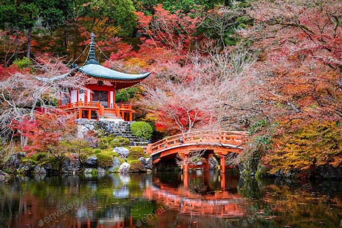 Daigoji Tempel im Herbst, Kyoto, Japan
