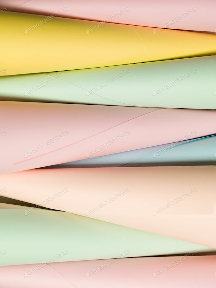 paper cone shape abstract background
