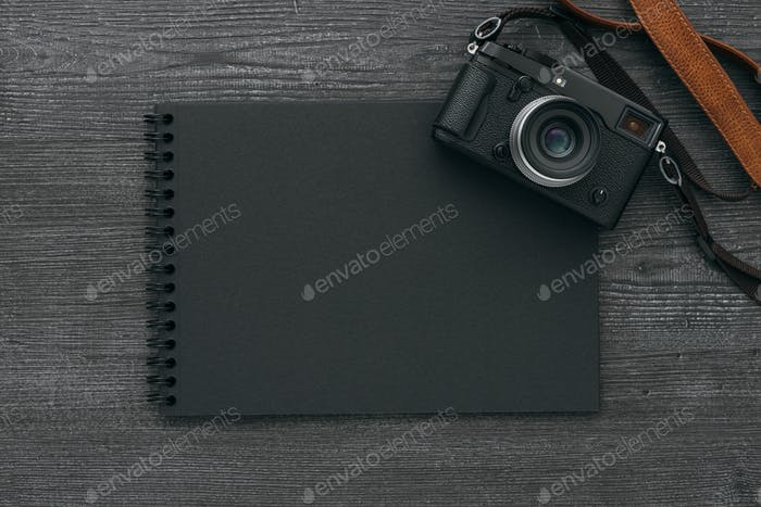 Photo album with camera