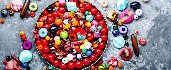 Beads or colorful beads