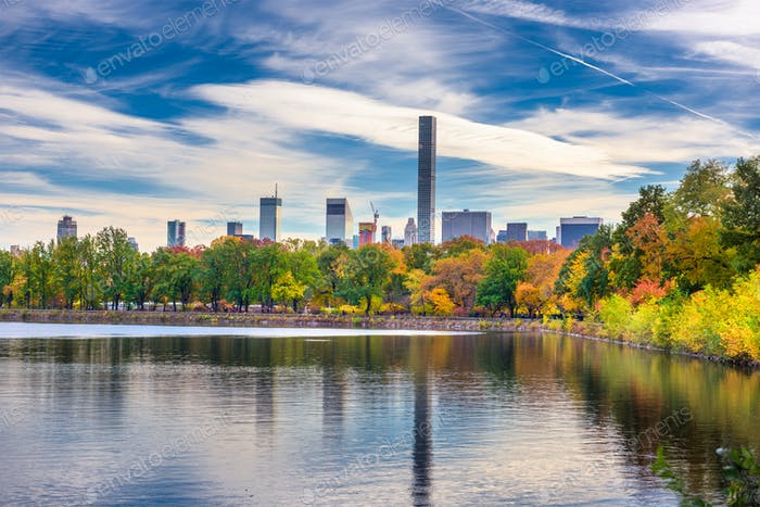 Central Park im Herbst in New York City.
