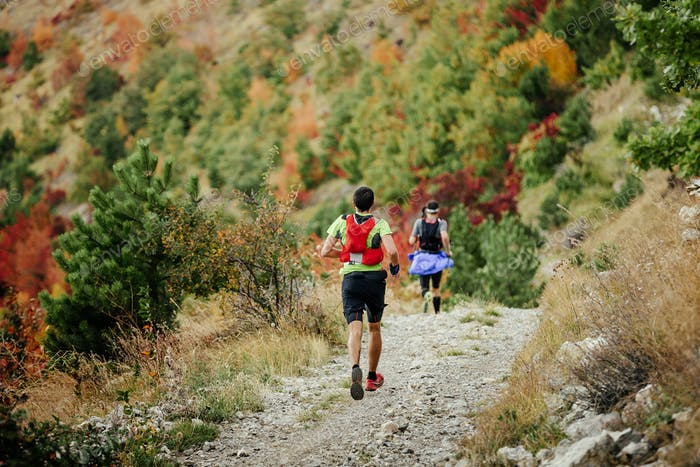 Two Runners Running Mountain Marathon