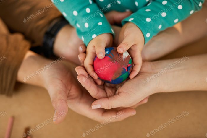 Colourful Ball In Hands