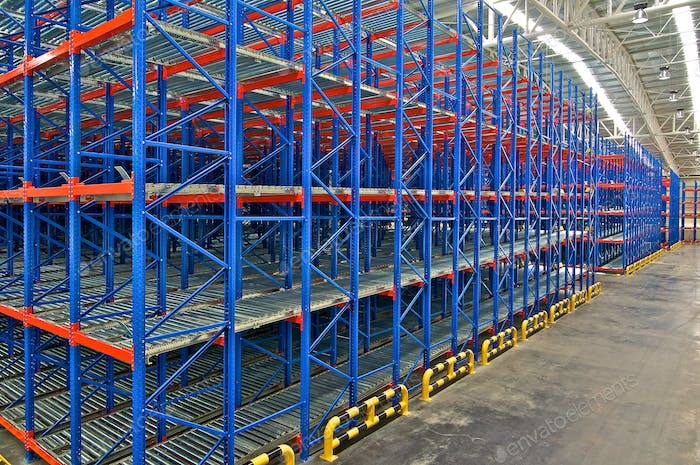 Warehouse storage, shelving, metal, pallet racking systems