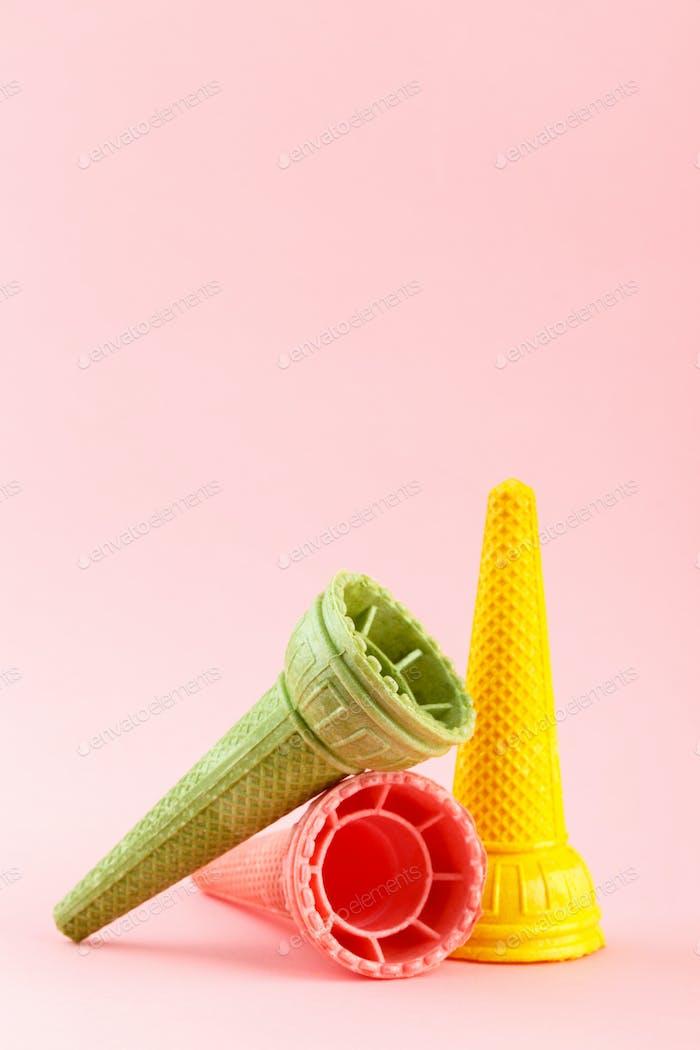 Waffle crispy ice cream cones