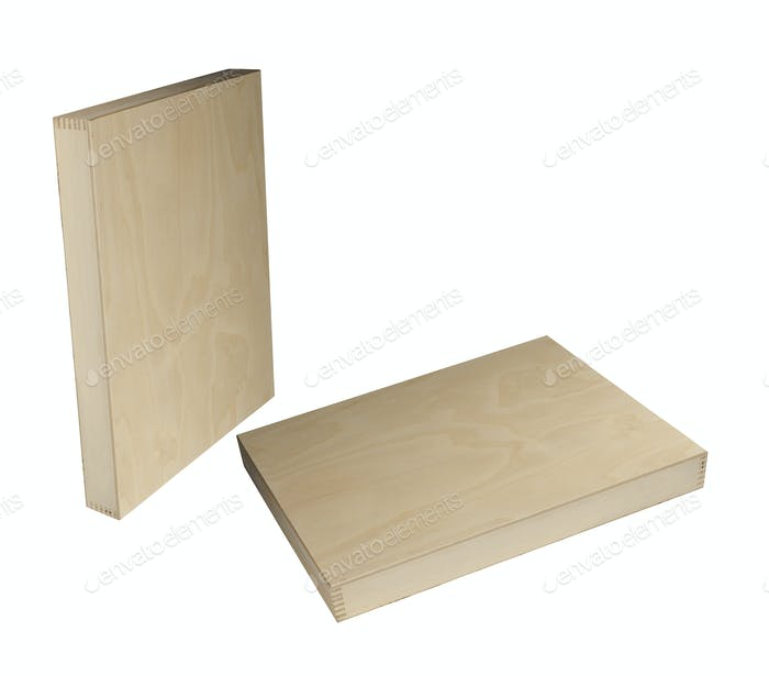Wooden boxes isolated