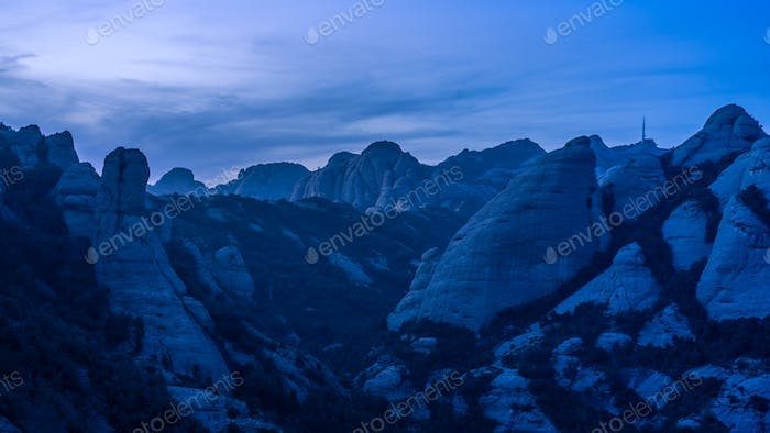 Mountains at Blue Hour.