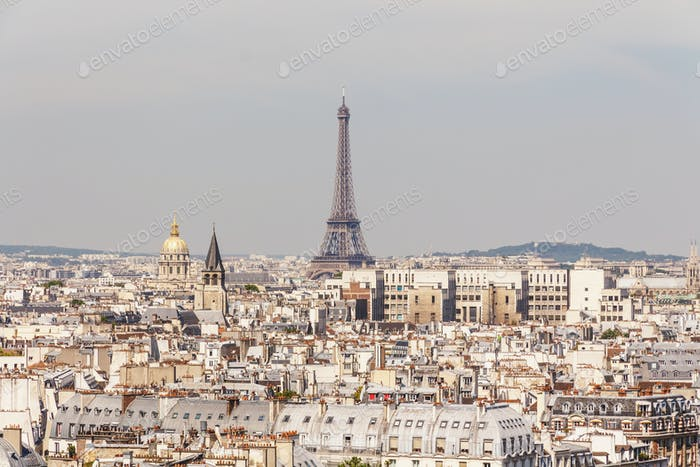 view of Paris city, France