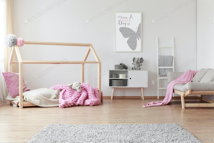 Baby room with poster