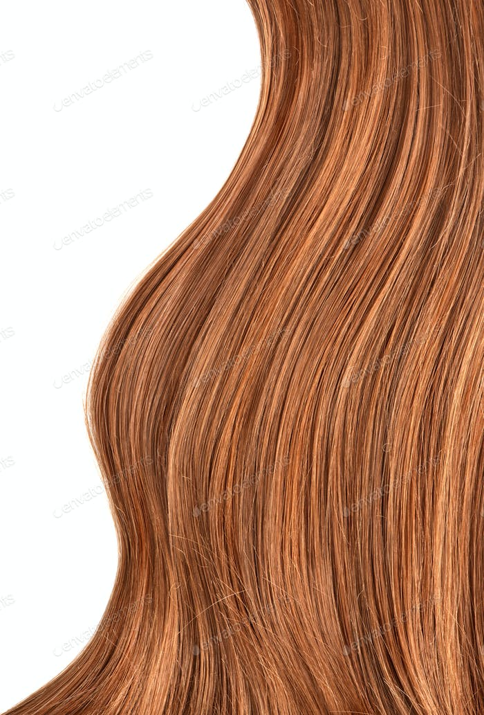 Long red human shiny hair
