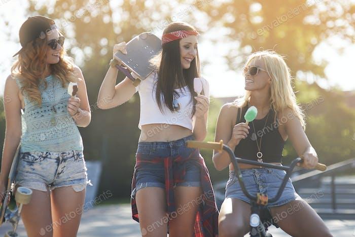Those girls always keep together like best friends