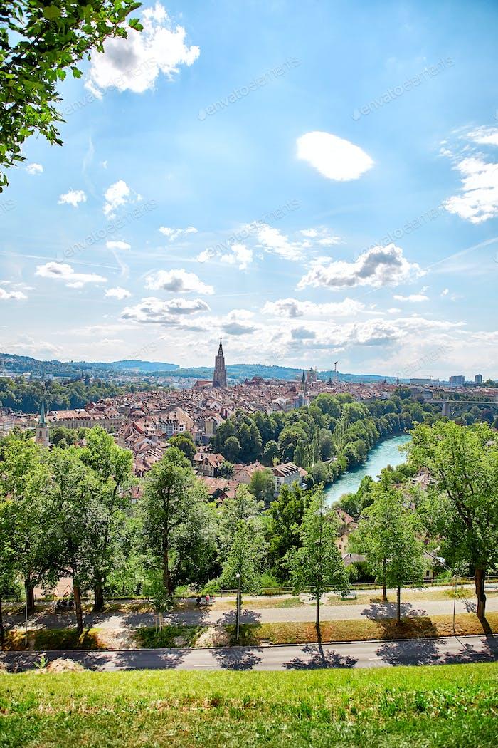 Panoramic view of Berne, Switzerland