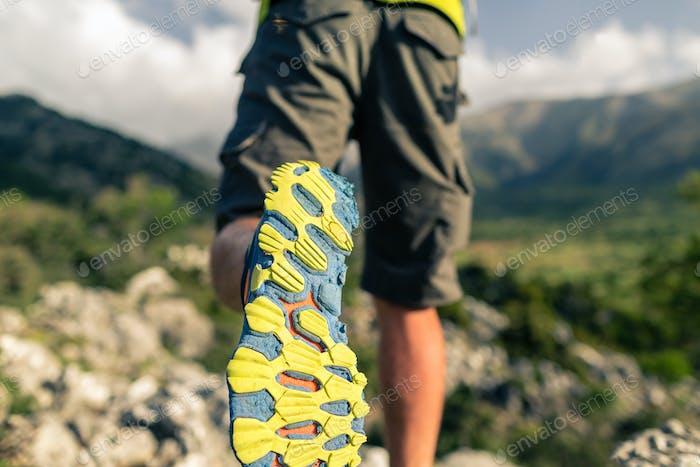 Hiking hiking in beautiful inspirational mountains