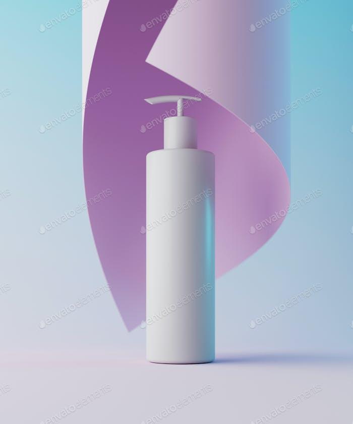 Minimaler Hintergrund für Kosmetik-Branding und Verpackungspräsentation. Bühnen-Pastellfarben