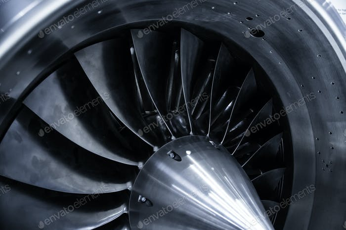 blades of the jet engine